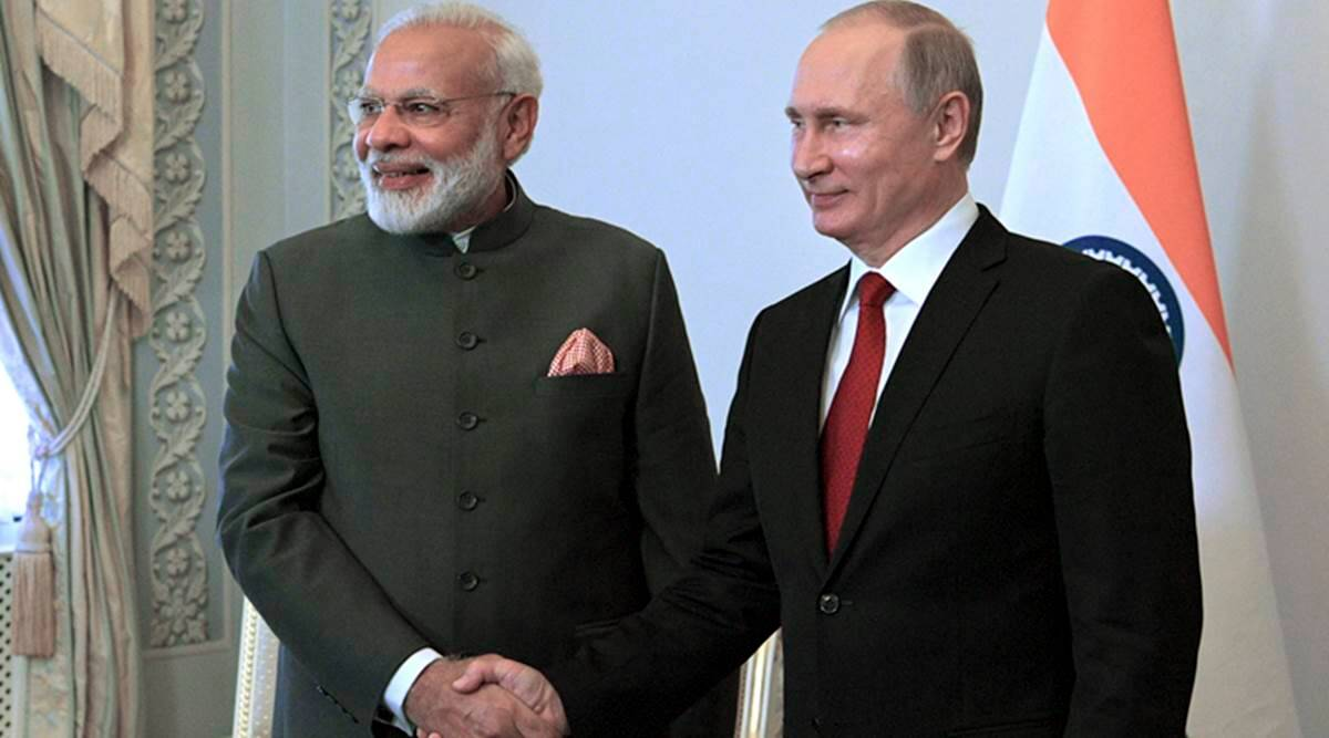 Narendra Modi In Russia Pm Praises President Vladimir Putin S Family For Sacrificing Lives For Country India News The Indian Express