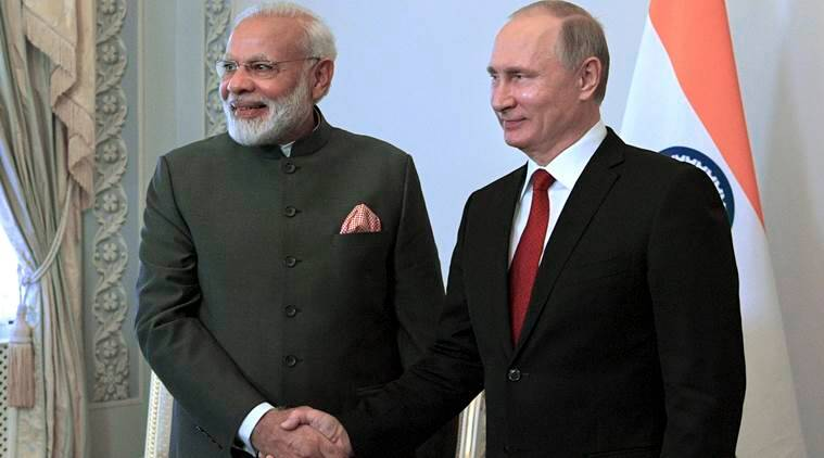 Image result for russia president with modi