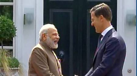 pm modi, pm modi foreign tours, modi netherlands visit, mark rutte, india netherland ties, indian express news