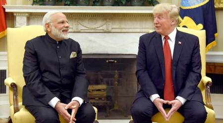 The Modi-Trump meeting, in detail: 5 hours, 3 hugs, 2 handshakes