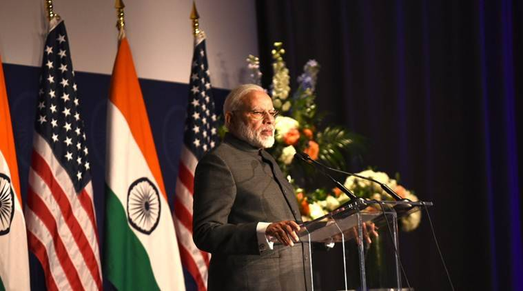 narendra modi, donald trump, modi in us, pm modi us, modi us visit, modi trump dinner, narendra modi us visit, donald trump modi meeting, indian express