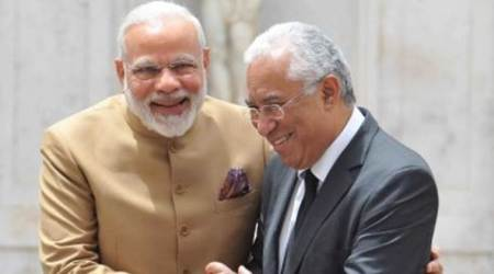PM Narendra Modi presents OCI card to Portugal's Indian-origin PM Antonio Costa