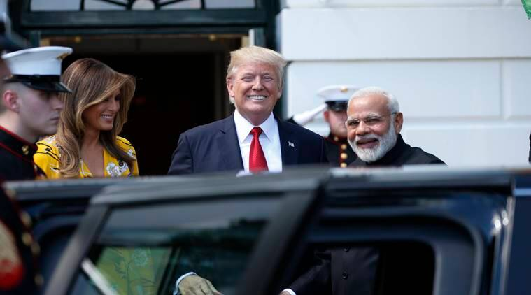 narendra modi, donald trump, white house, modi in us, modi trip to us, modi trump meeting, modi us live updates, indian express