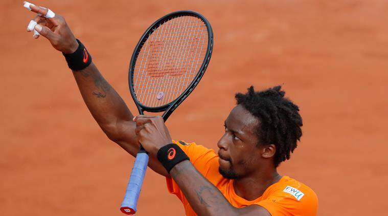 Gael Monfils, French Open 2017, Indian Express
