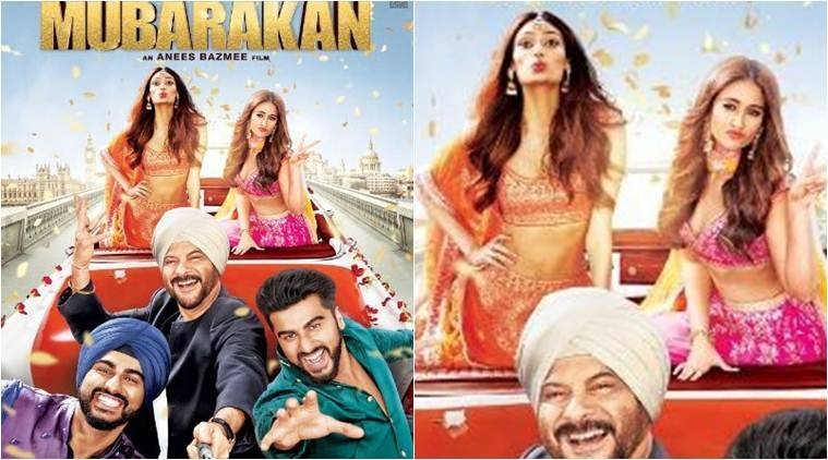 Mubarakan poster: Anil Kapoor with Arjun, Ileana D'Cruz and Athiya Shetty