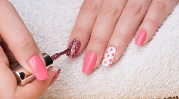 nail art, nail art and geometry, fancy nail arts, nail art trends, Indian express, Indian express news