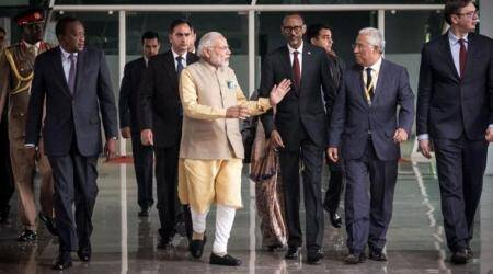 PM Narendra Modi arrives in Lisbon; meets Portuguese counterpart Antonio Costa