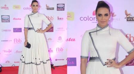 Neha Dhupia's love streak for white and voluminous gownscontinues