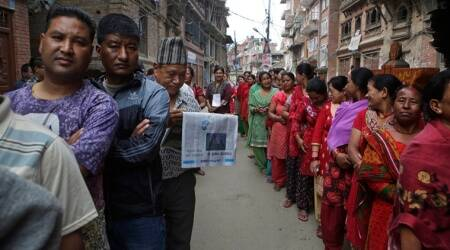 Nepal, Nepal elections, election, Nepal local voting, votes, Election Commission, Indian express news,