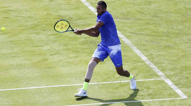 Kyrgios retires injured at Queen's, says fit for Wimbledon