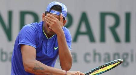 French Open 2017: Nick Kyrgios loses second round and temper inParis