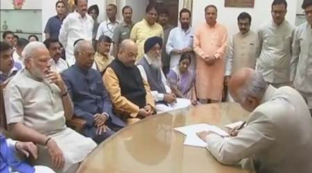Ram Nath Kovind files nomination papers for President, says will always uphold dignity of post