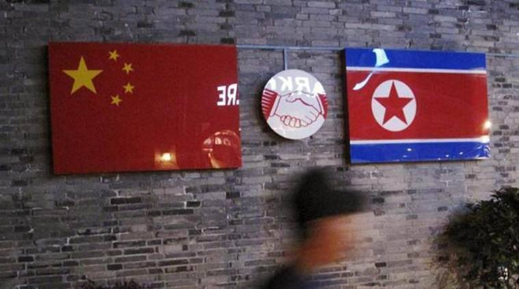 China and North Korea flags, flags of china and north korea, china north korea relations, indian express