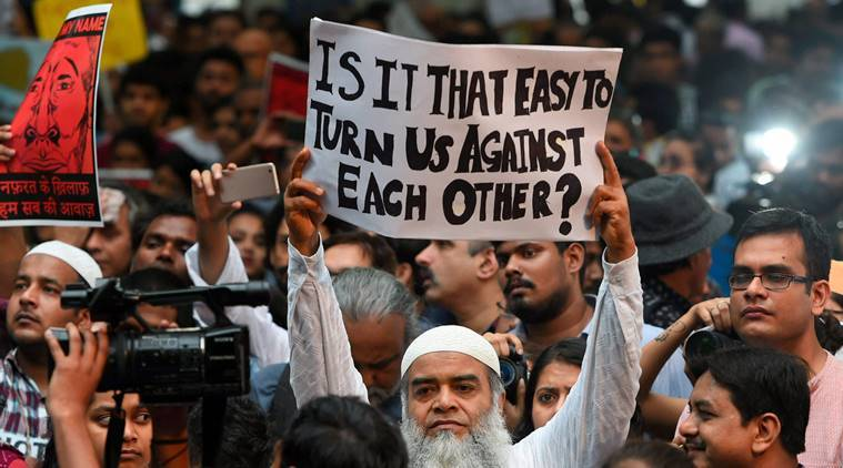 Mob lynchings in india, Hate crimes against Muslims, Hate crimes in India, Faridabad Lynching, Junaid Khan Lynching, Dalit lynchings, Pehlu Khan lynching, Indian Express Opinion Columns