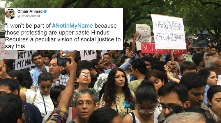 #notinmyname, not in my name, protest against minority, lynching of minorities, indian express, indian express news