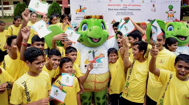 Asian Athletics Championships, Asian Athletics Championships mascot, Olive Ridley sea turtle, olly, sports news, indian express