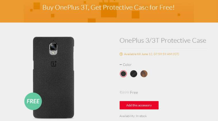 best service 045cf aa203 OnePlus 3T now comes with free protective case for a limited period ...