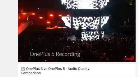 OnePlus 5 audio compared with OnePlus 3 in official video