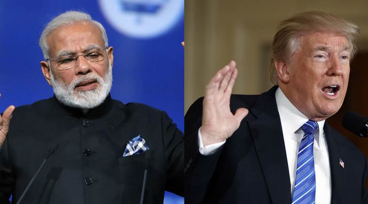Donald Trump Narendra Modi, Modi US visit, Modi Trump, Modi Meets trump, Modi Indian community, US india relations, Indian express, India news, World News, Latest News