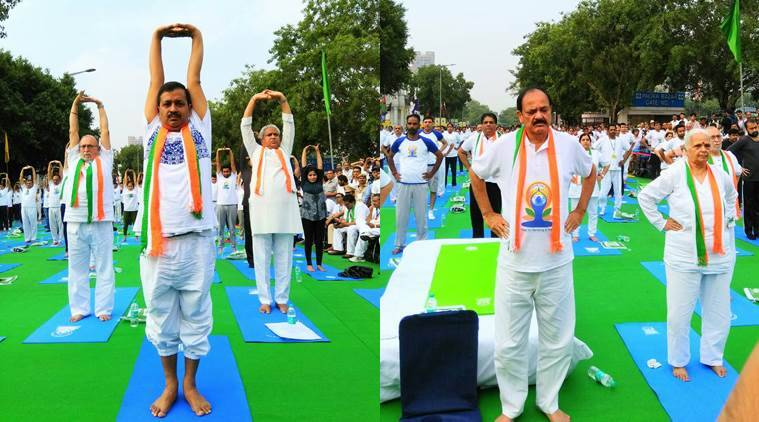 International Yoga Day, Yoga Day, Narendra Modi, Yoga Day Arvind Kejriwal, Yoga Baba Ramdev, Ahmedabad Yoga day, Yoga day Indian cities, Indian express, India news