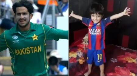 WATCH: This kid is right on point in his imitation of Pakistan cricketer Hasan Ali's victory move