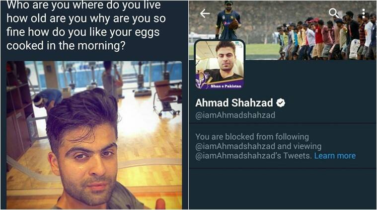 pakistani girl proposes cricketer, pakistani girl proposes ahmad shahzad gets blocked, pakistani girl funny tweets, pakistani girl funny proposal on twitter viral, indian express, indian express news