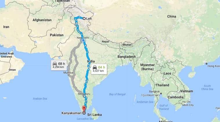 paraplegic journey, leh to kanyakumari record, limca book of records, eric paul, india news, latest news, indian express