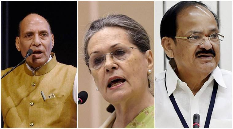Rajnath, Naidu meet Sonia to discuss Presidential candidate