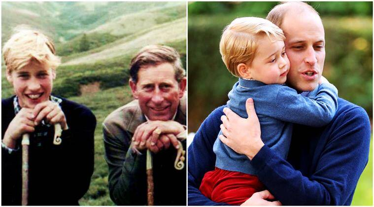 fathers day 2017, happy fathers day 2017, father day, prince george, william, princess charlotte, prince george william fathers day post, indian express, indian express news