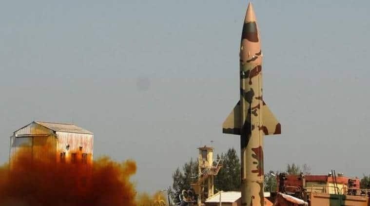 Prithvi II missile, Prithvi II missile fired, Prithvi II missile launch, odisha missile launch, india missile launch, india news, indian express news