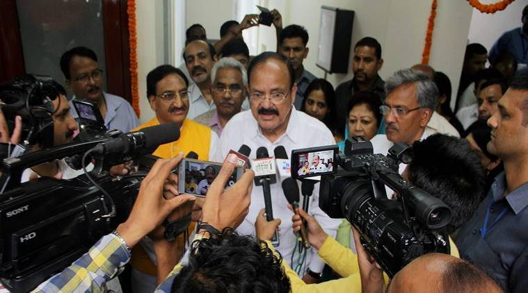 Doordarshan M Venkaiah Naidu, M Venkaiah Naidu Dehradun, Trivendra Singh Rawat, Naidu All India Radio, Indian express, india news,