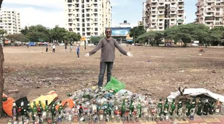 Cleanliness drive at Wanowrie ground: 500 liquor bottles among 350 kg waste collected