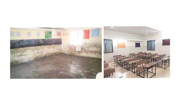 School for underprivileged gets a makeover the indian for Used school furniture outlet