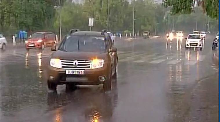 delhi, delhi rain, rainfall, delhi thunderstorm, delhi weather, indian express news, delhi news, IMD