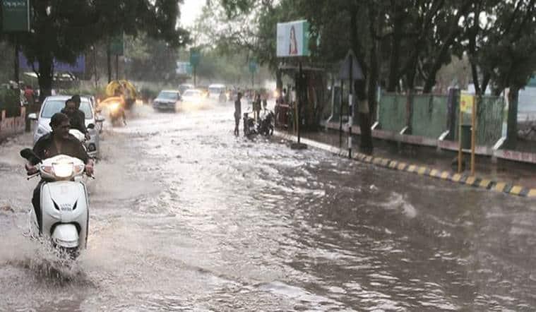 Gujarat rains, rains, Indian Express news