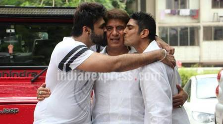 Raj Babbar's birthday bash with sons Prateik and Aarya was more like a belated Father's Day celebration