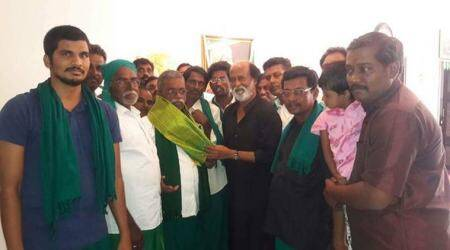 Tamil Nadu farmers meet Rajinikanth, remind him of promise made in 2002