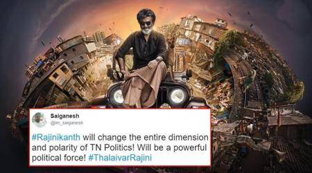 rajinikanth, rajinikanth politics, rajinikanth politics tamil nadu, rajinikanth political party, rajinikanth tweets, rajinikanth twitter reactions, thalaivar politics, indian express, indian express news