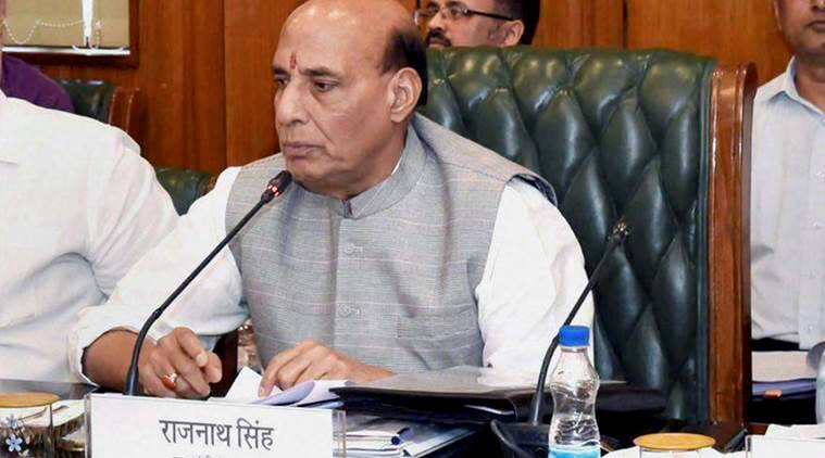 rajnath singh, rajnath singh human shield controversy, rajnath singh kashmir, india news, indian express news
