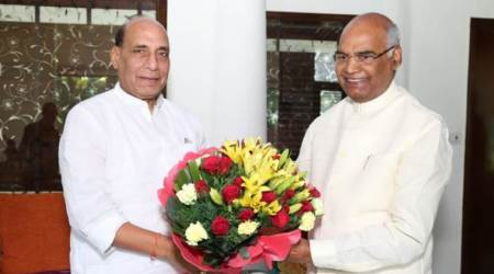 Home Minister Rajnath Singh convey wishes to NDA's Presidential nominee Ram Nath Kovind