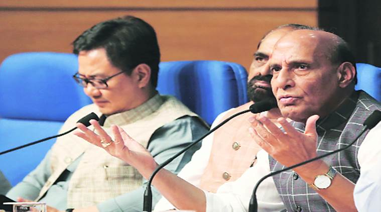 Rajnath Singh, Three Years of NDA government, Indian Express News