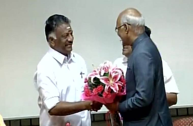 Ram Nath Kovind, Kovind nomination, Presidential election o pannerselvam
