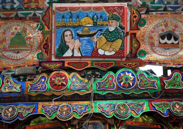 Pakistan artwork, Pakistani trucks, decorated trucks, trucks of Pakistan, Indian express, Indian express news