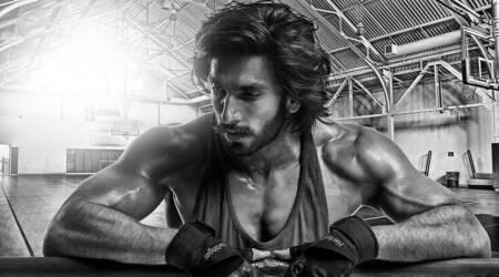 Ranveer Singh is motivating his fans by flaunting a sweaty beefed-up look, see photos