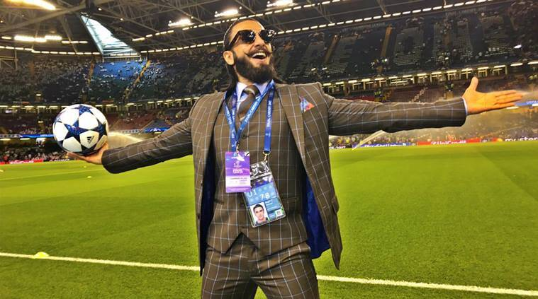 Ranveer singh, real madrid, real, madrid, uefa champions league, champions league, real madrid vs juventus, football, indian express