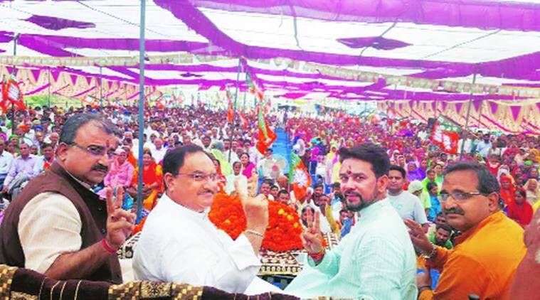 BJP parivartan rath yatra, Shimla Municipal Corporation polls, poll-bound Himachal Pradesh, Manohar Lal Khattar, Trivendra Singh Rawat , Union Health Minister J P Nadda , India News, Indian Express News
