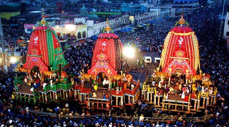 Lord Jagannath's annual chariot procession