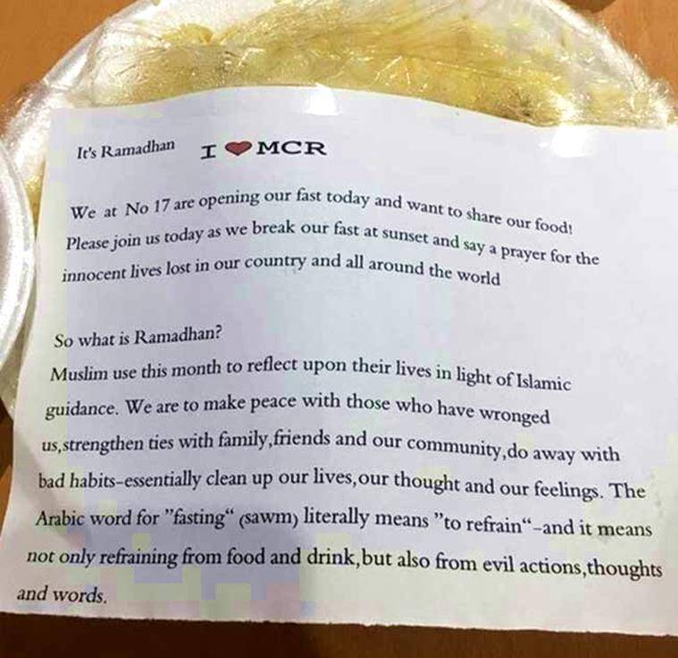 Heartwarming Letter By Muslim Family In Manchester During