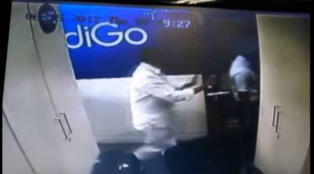 Watch Video: TDP MP assaults IndiGo airline staffer, damages ticket printer