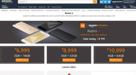 Xiaomi Redmi 4 sale on Amazon, Mi.com at 12 PM today: Top offers from Vodafone, Hungama Play, and more